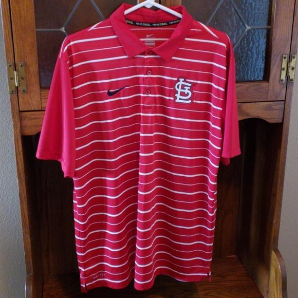 f8082da5 Nike Shirts | St Louis Cardinal Red Stripe Polo | Poshmark